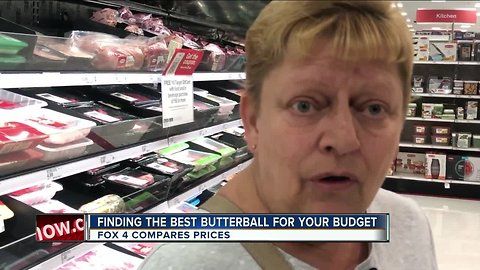 FOX 4 compares turkey prices within local grocery stores.