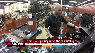 Traffic at local gun shop spikes after mass shootings - Video