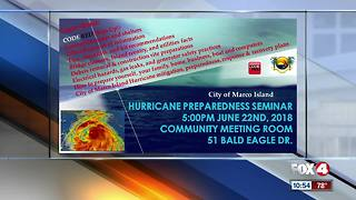 Marco Island host Hurricane preparedness seminar - Video