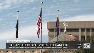Can Arizona's electoral votes be changed?