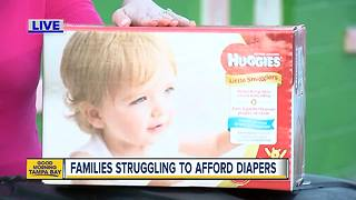 Families struggling to afford diapers in Tampa Bay area