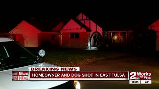 Homeowner and dog shot in home invasion - Video