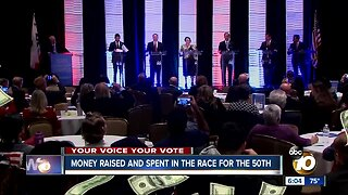Millions of dollars raised and spent in the race for the 50th