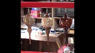 #R003 Woodturning Hollow Globe Christmas Ornaments Part 2