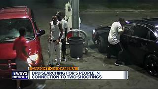 DPD searching for 5 people in connection with two shootings - Video