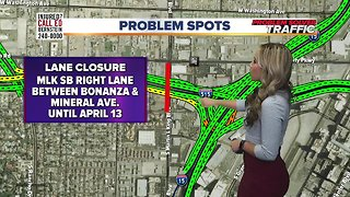 4/3 construction and lane closures