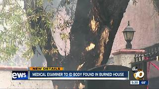 Medical Examiner to identify body found in burned house - Video