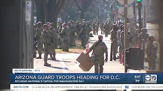Arizona National Guard members headed to D.C. for Inauguration Day