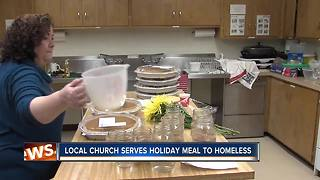 Local church serves holiday meals to the homeless - Video
