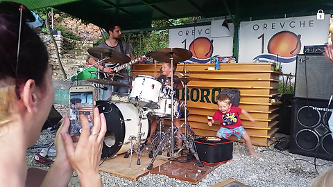 6-year-old drummer totally steals the show