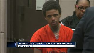 Man accused of killing Milwaukee teen appears in court - Video