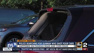 Shots fired at cars, including police vehicle - Video