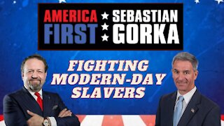 Fighting modern-day slavers. Ken Cuccinelli with Sebastian Gorka on AMERICA First