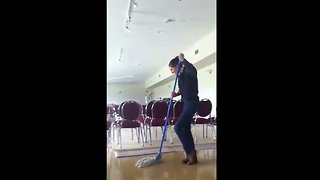Mop Dance at the Workplace  - Video