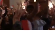 French Fans in Chicago Celebrate First Goal in World Cup Final With Mexican Wave