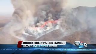 Firefighters making progress on Burro Fire - Video