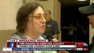 An evacuee shares her story in the Thomas Fire. - Video