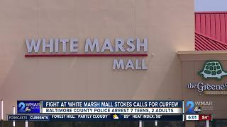 Fight At White Marsh Mall Stokes Calls For Curfew - Video