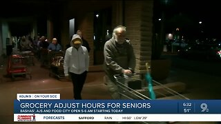 Southern Arizona grocery stores open doors early for seniors
