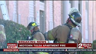 Fire damages vacant Midtown apartment building - Video