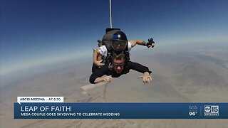 Mesa couple goes skydiving to celebrate wedding