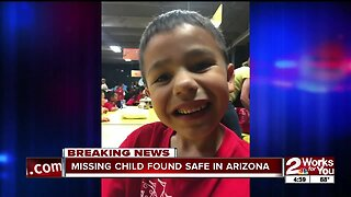 Missing 7-year-old found safe in Arizona