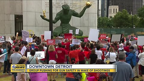 Detroit rally pushes for gun safety in wake of shootings