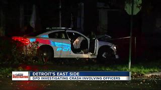 Detroit Police crash with second car, but who's at fault? - Video
