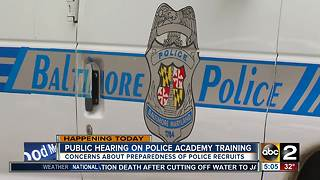 City Council holding hearing on Baltimore City Police Academy training - Video