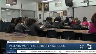 Parents seek more clarity over SD Unified reopening plans