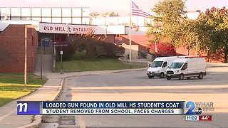 Loaded gun found on Old Mill High School student