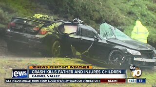 Crash kills father and injures children