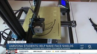 UArizona students help make face shields for essential workers