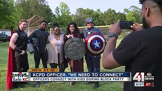 Kansas City police foster relationships at Ivanhoe Block Party