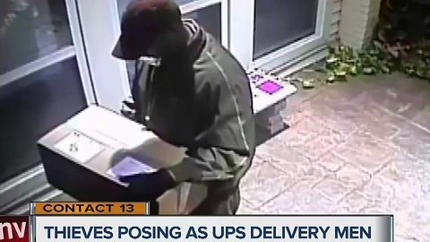CONTACT 13: Package thieves dress up as UPS delivery men