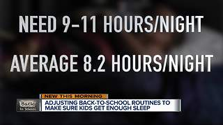 Getting back to a school sleep schedule - Video