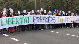 Catalan Independence Supporters Block Border Crossings to France - Video