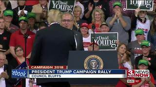 President Trump speaks in Council Bluffs
