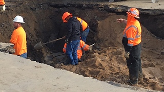 Greeley water main breaks - Video