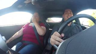 Aunt reacts to insane McLaren MP4-12C acceleration - Video