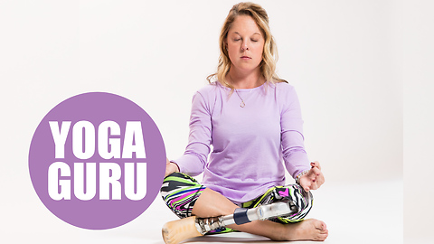 Amputee leaves boring job to open up her own yoga studio