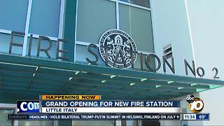 New San Diego fire station opens in Little Italy - Video