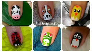 Cute animal nail art: Volume 1 - Video