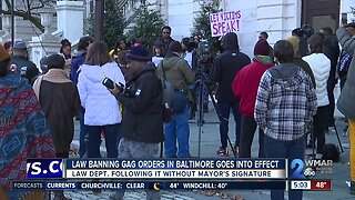 Law banning gag orders in Baltimore goes into effect