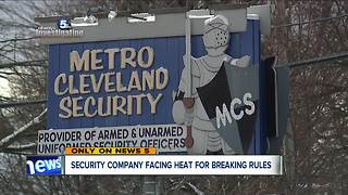 Cleveland security company fined for failing to give background checks to new hires - Video