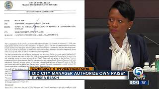 Did Riviera Beach City Manager authorize own raise? - Video