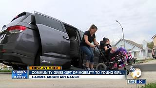 Community gives gift of mobility to young girl