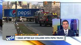 1 dead after SUV collides with Pepsi truck - Video