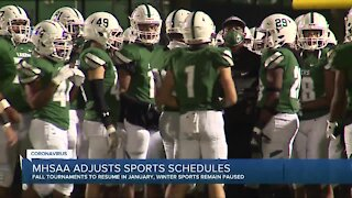 Fall high school sports will resume tournaments next month, practice can begin Monday