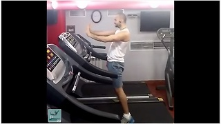 Epic Treadmill Dance Performance Set To Indian Music - Video